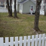 We installed this 4' concave cedar picket fence in Cooperstown in 2015