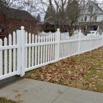 "Oneonta, 2015. This concave picket fence dips  from 48"" high to 42"" high at the bottom of the swoop."