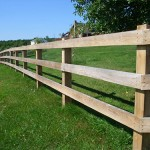 "We used full dimension 2""x6"" rails and 6""x6'"" posts for this horse fence."