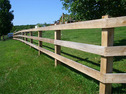 Rough Sawn Fencing We Used Full Dimension 2x6 Rails And