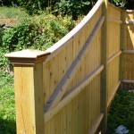 We call this an off-grade fence section. It steps down from 6' high to 4' high.