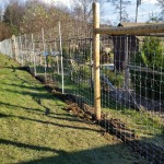 We installed this 8' deer fence in Hartwick in 2018 with chain link access gates.