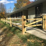 We installed this fence with matching gate in Walton in 2019. The top rail finishes at 3' above grade.